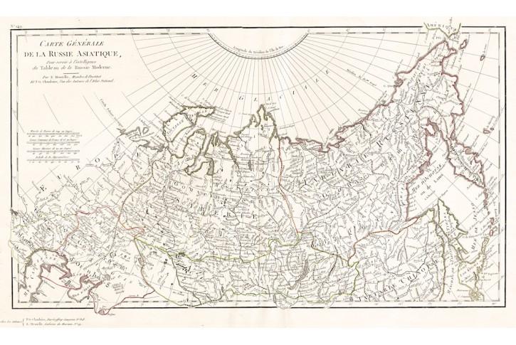 RUSSIE ASIATIQUE, Mentelle,  mědiryt, 1806