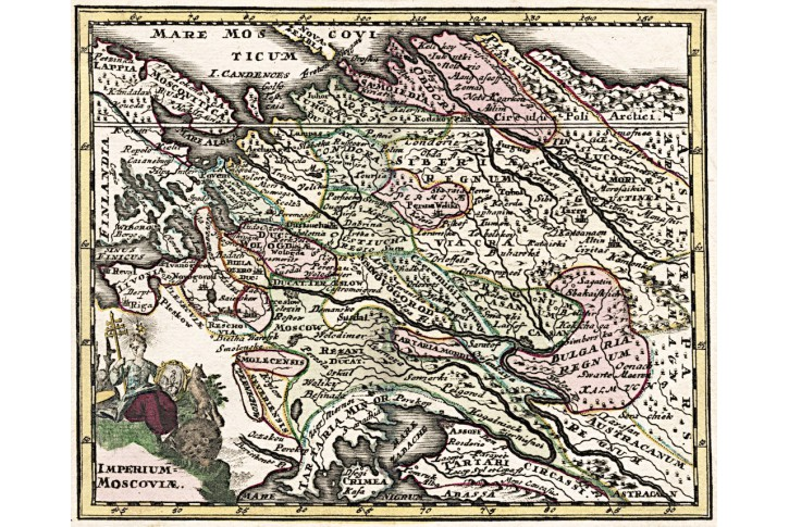 Weigel : Imperium Moscovia, mědiryt 1718