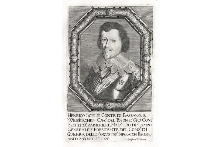 Šlik, Prioratus, mědiryt, 1672