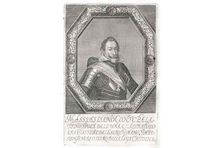 Maxmilian II., Prioratus, mědiryt, 1672