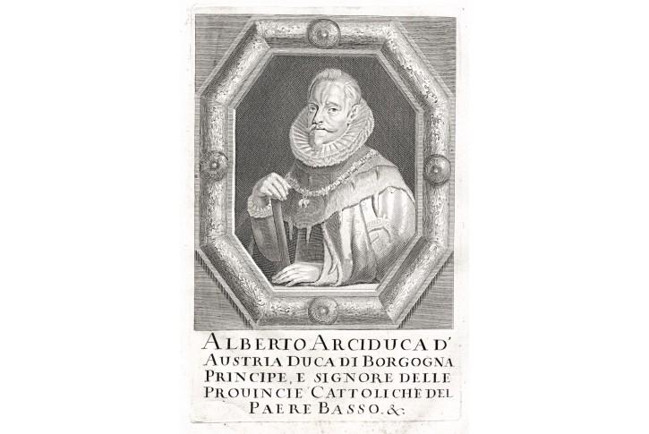 Albrecht VII. Habsburský, Prioratus, mědiryt, 1672