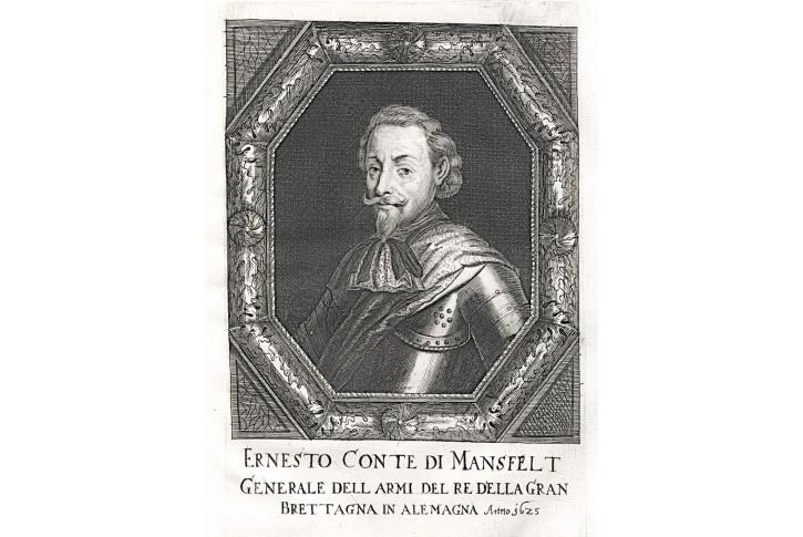 Mansfeld, Prioratus, mědiryt, 1672