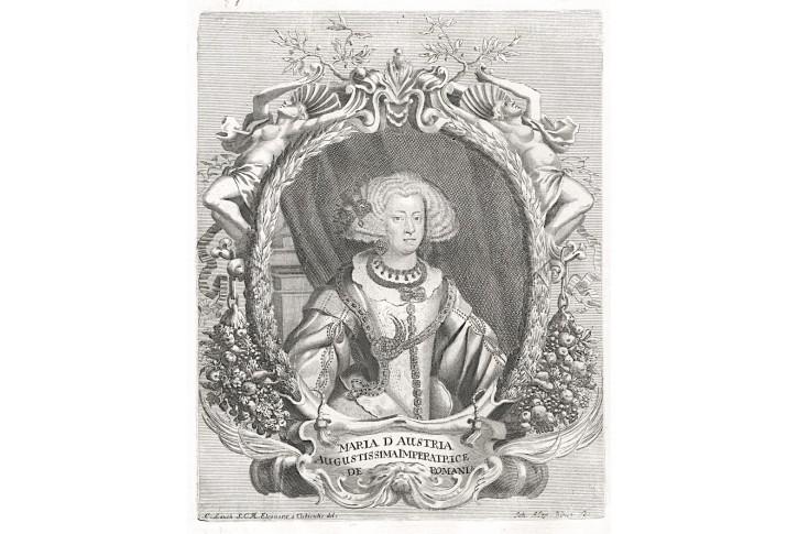 Marie Španělská, Prioratus, mědiryt, 1672