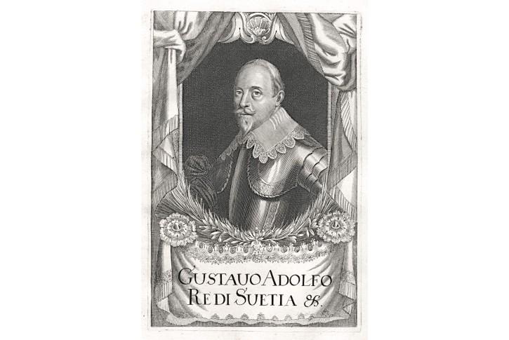 Gustav Adolf, Prioratus, mědiryt, 1672