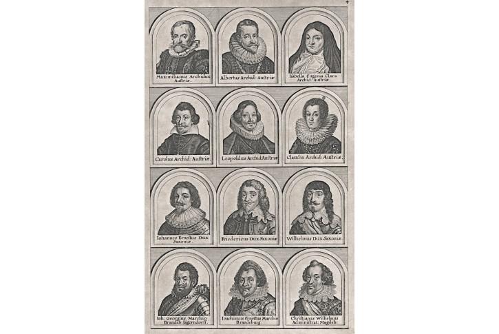 Osobnosti 17. stol., Merian,  mědiryt (1650)