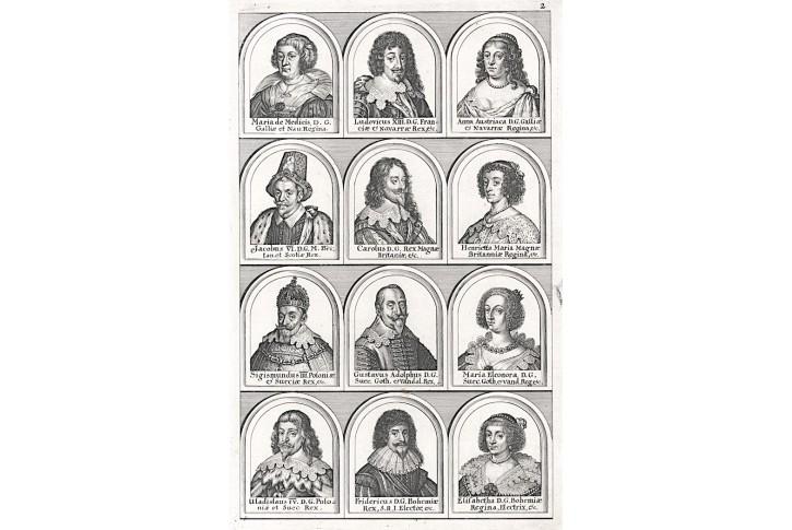Osobnosti Fridrich Falcký ... ,  mědiryt (1650)