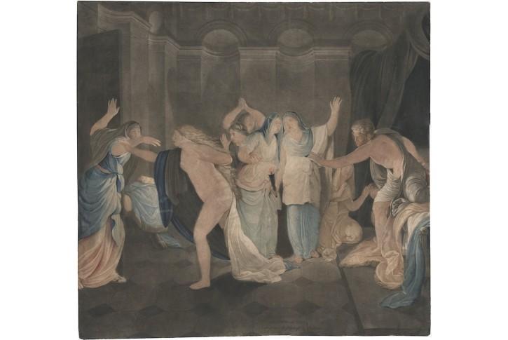 Prchající Myrha, Pichler, mezzotinta, 1797