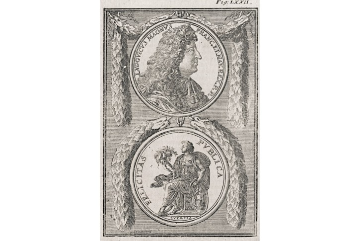 Ludvík XIV., Mallet, mědiryt, 1683