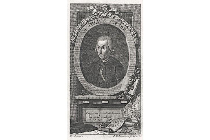 Aquilinus-Julius Caesar, Kauperz, mědiryt, (1790)