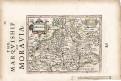 Hondius -Moravia, malý  mědiryt, (1620)