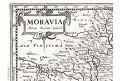 Hondius Moravia, malý, mědiryt, (1620)