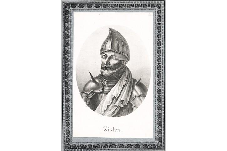 Žižka Jan z Trocnova,litografie , (1830)