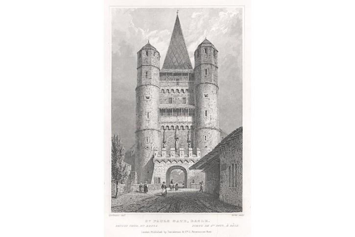 Basel St. Paul, Tombleson, oceloryt, 1832
