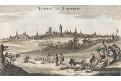 Löwen Louvain, Bodenehr,  kolor. mědiryt, 1700