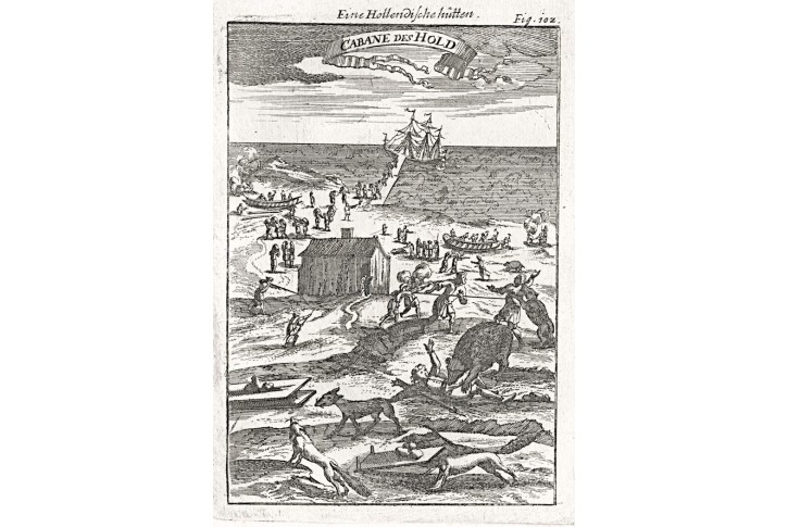 Novaja Zemlja, Mallet, mědiryt, 1719