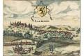 Limburg, Gucciardini, kolor. mědiryt, 1613