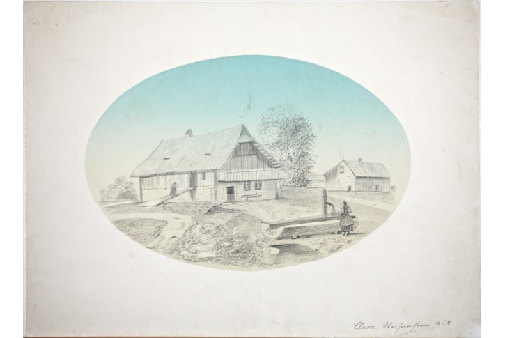 stavení , Clara Wiehnachten ,  kresba 1864