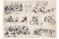 Prout Sam. Microcosm, litografie. 1841