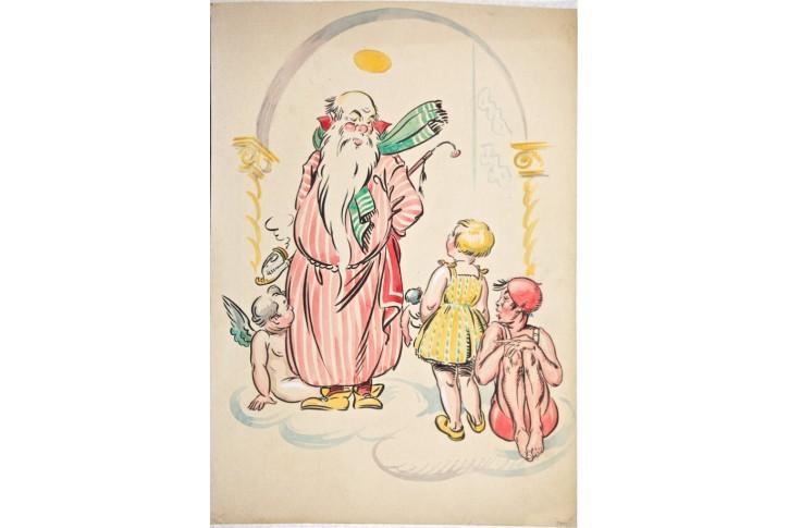 Sv. Petr, kresba (1940)