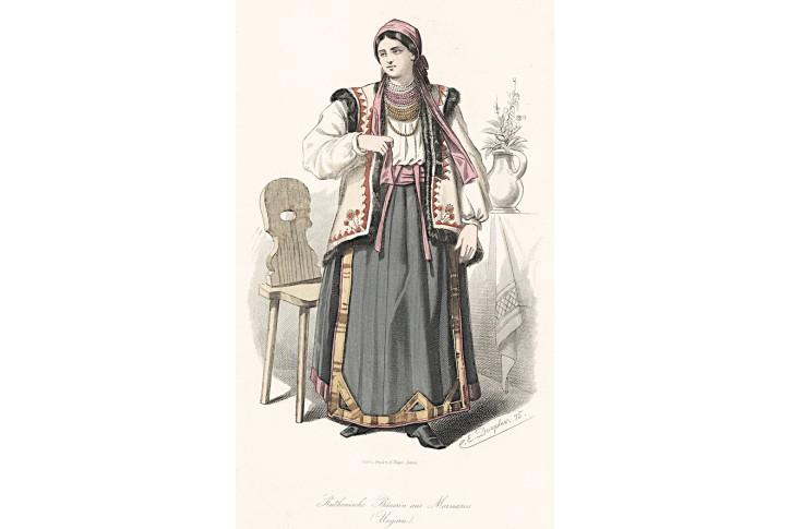 Kroj Ukrajina, xylografie, (1880)
