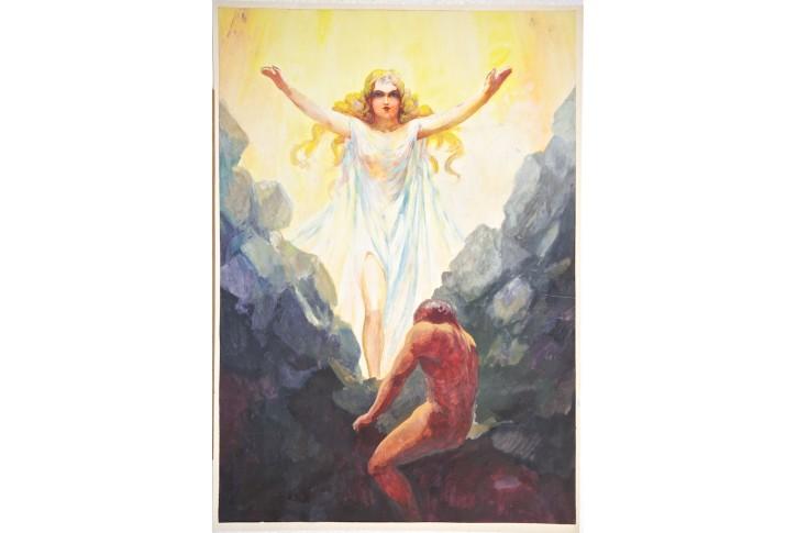 Jitřenka, kresba (1910)
