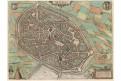 Mons, Braun Hogenberg, kolor mědiryt, 1581