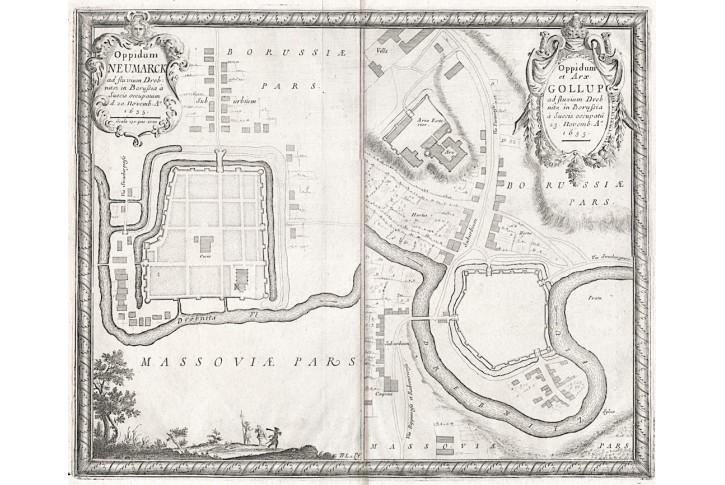 Nowe Miasto Lubawskie, Puffendorf, mědiryt, 1697