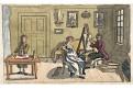 Malíř, akvatinta kolorovaná, 1820