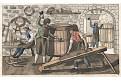 Bednář, akvatinta kolorovaná, 1820