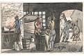 Kovář, akvatinta kolorovaná, 1820