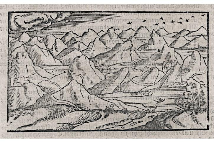 Helvetia Schweiz, Münster S., dřevořez , (1580)