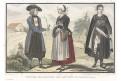 Češi kroje okolí Prahy, kolor. oceloryt, 1859