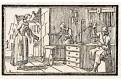 Svíčky výroba, dřevoryt, (1840)
