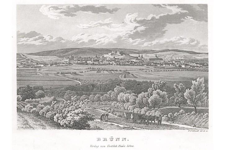 Brno, Haase, oceloryt, 1840