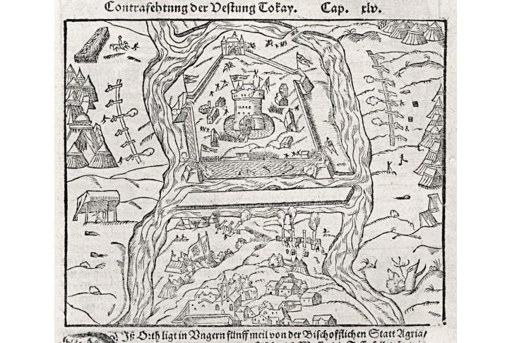 Tokaj - Gyula, Münster S., dřevořez , 1574