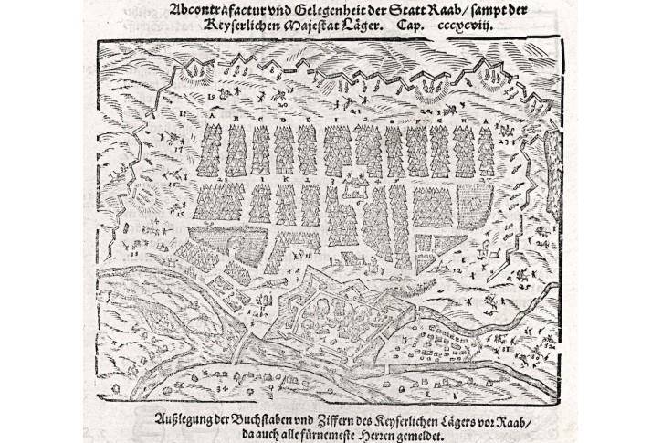 Raab, Münster S., dřevořez , 1574
