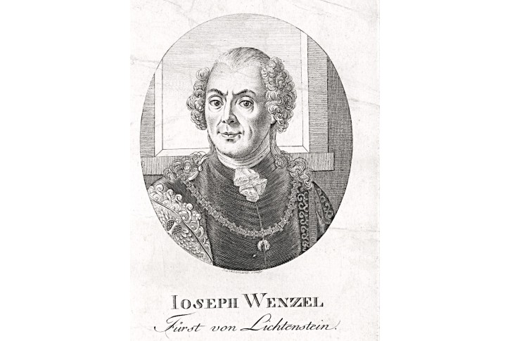 Josef Václav z Lichtenštejna, mědiryt, (1820)