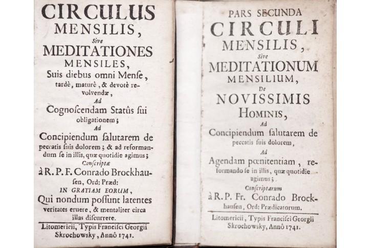 Circuli Mensilis, díl I. II. , 2 sv. 1741