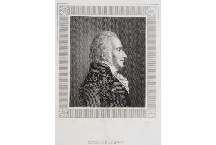 Matthisson Friedrich von, oceloryt , (1850)