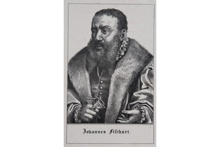 Fischart Joh. , litografie  , (1830)