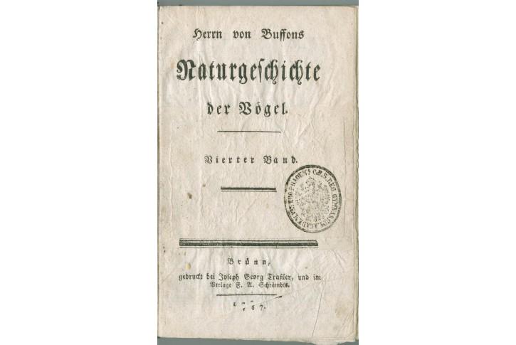 Buffon G.: Naturgeschichte Vogel Bd. 4., Brno 1787