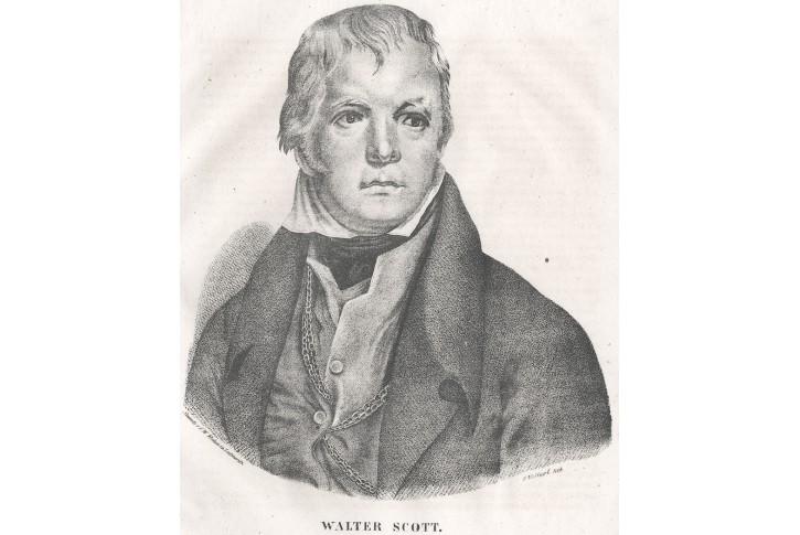 Walter Scott, Medau  litografie , (1840)