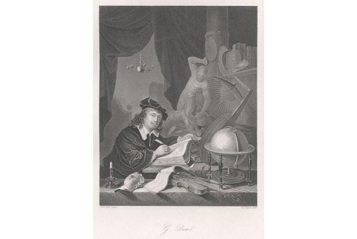 Gerhard Dow, Payne, oceloryt, 1849