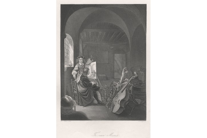 Franz van MierisI., Payne, oceloryt, 1849