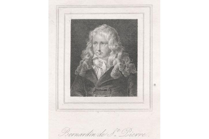 Bernardin Saint - Pierre, oceloryt, (1830)