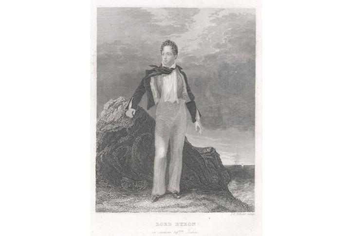 Byron, oceloryt, 1840