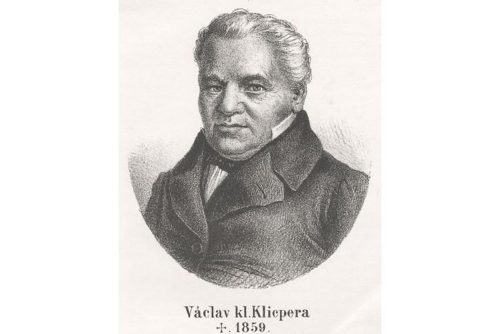 Václav Kl. Klicpera, litografie, (1870)