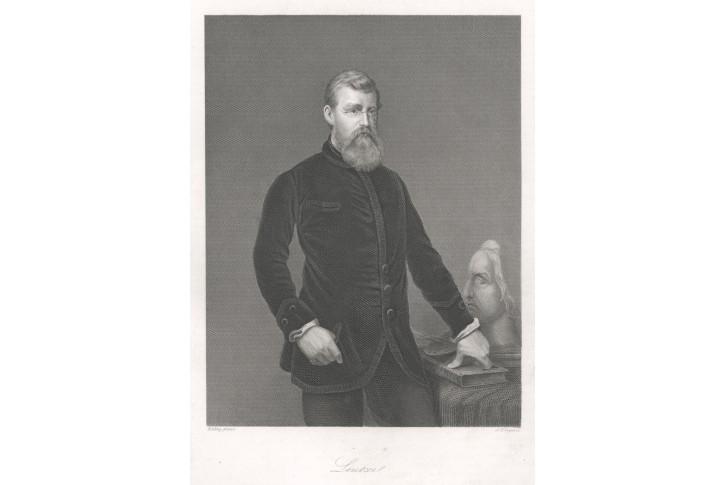 Leutze, oceloryt, (1860)