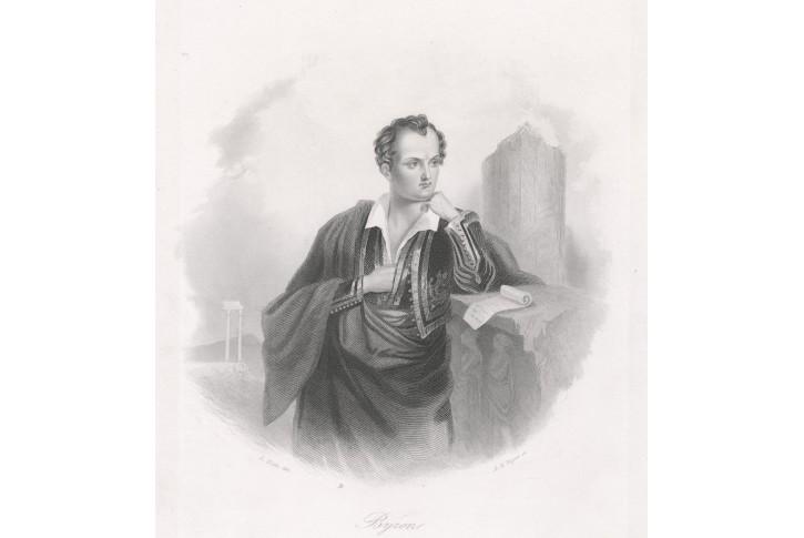Byron, Payne,oceloryt, 1860