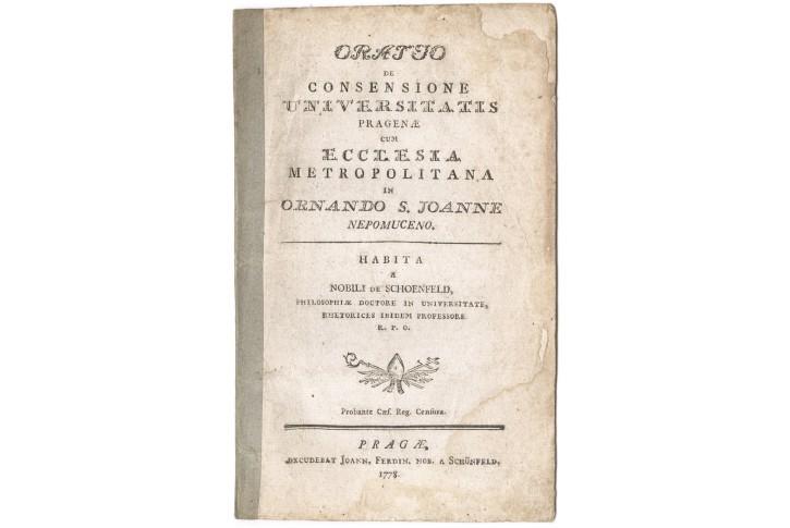 Schönfeld F.E., Oratio De Consensione, Praga 1778